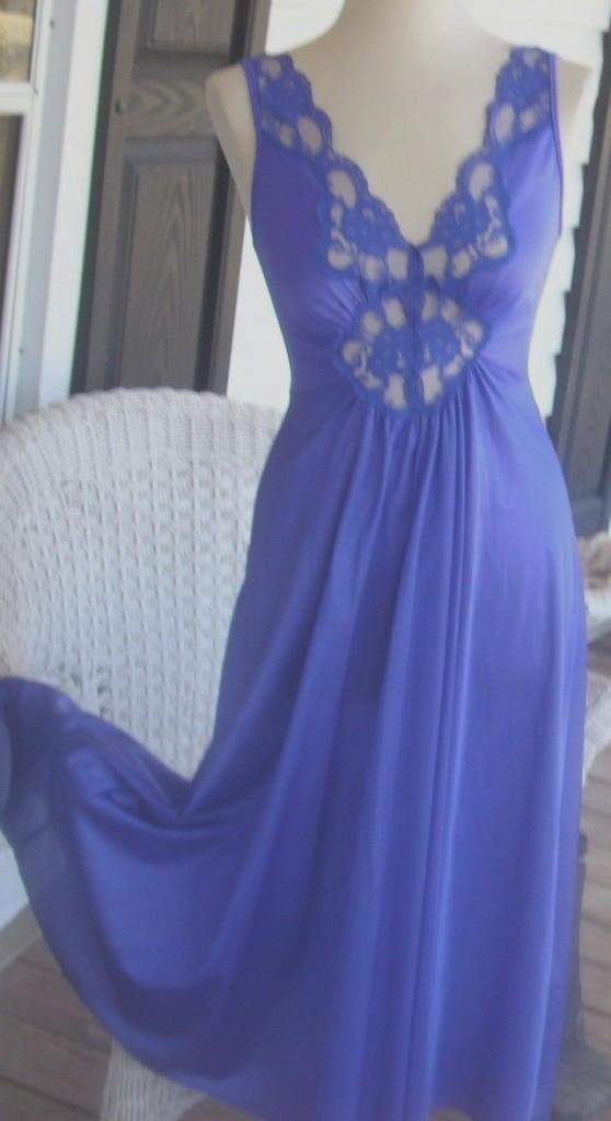 ebay blue nightgown